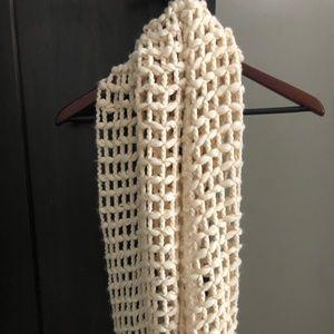 Cream knit scarf